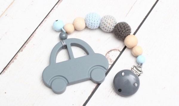 Beisskette Zahnungshilfe Silikon Auto Baby Junge