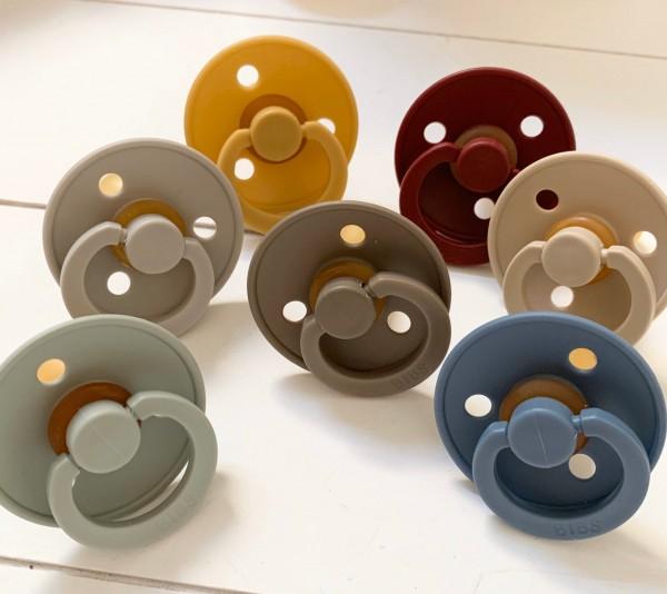 Bibs Design Schnuller Kirschsauger Grösse 1 0-6 Monate Beruhigungssauger Baby verschiedene Farben