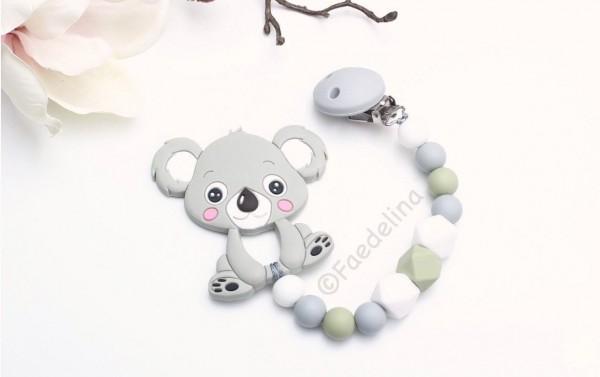 Silikon Beisskette Zahnungshilfe Koala Baby